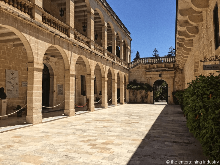 San Anton Palace entrance, filming locations of Game of Thrones in Malta